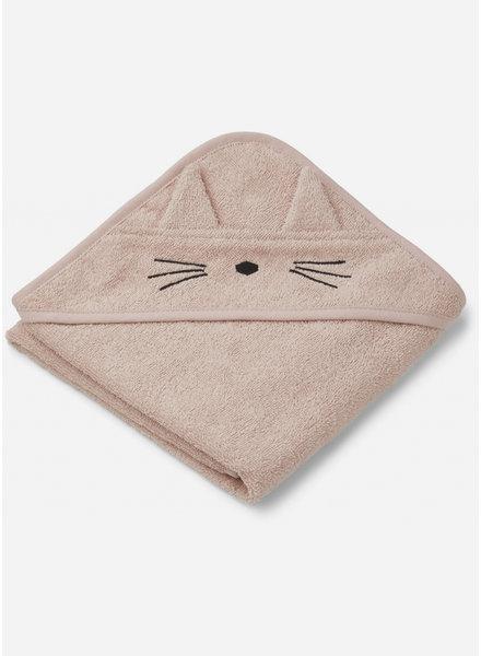 Liewood albert hooded towel - cat rose