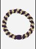 Kknekki by Bon Dep dark purple light beige stripe