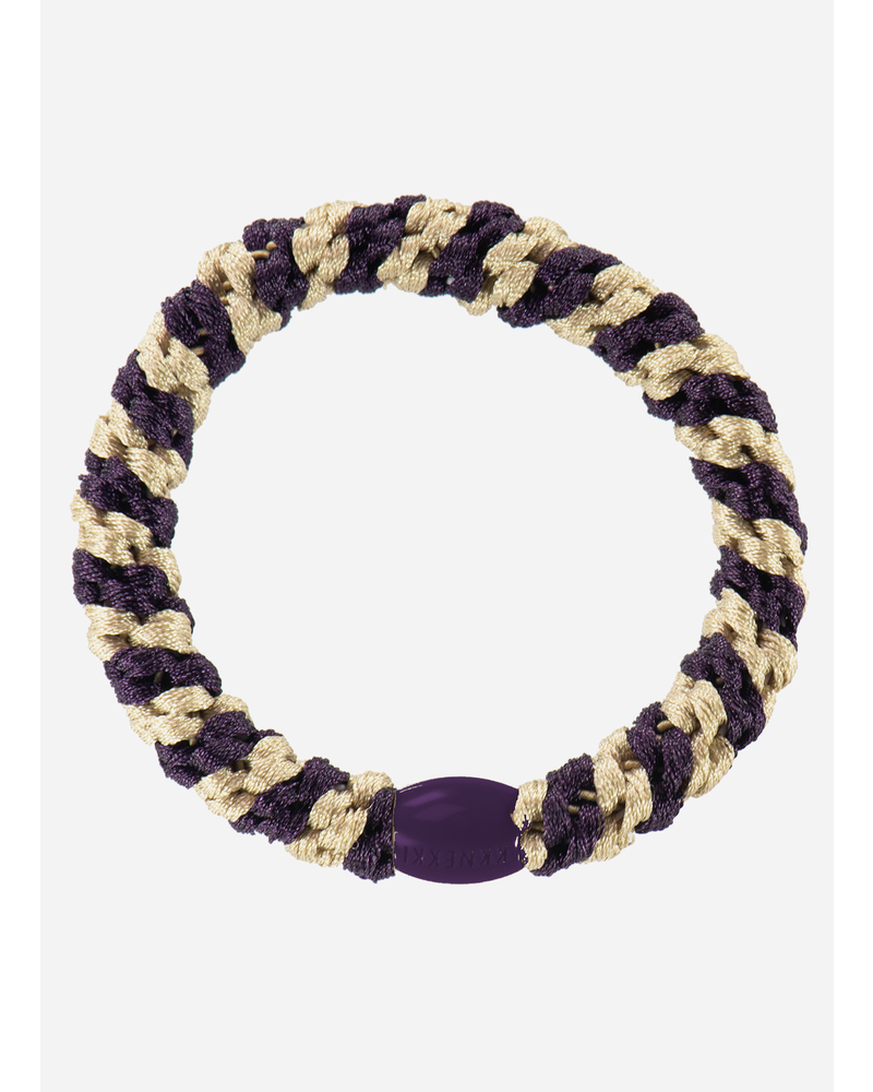 Kknekki by Bon Dep kknekki dark purple light beige stripe