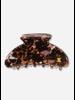 Repose hair clamp - big brown marble pink