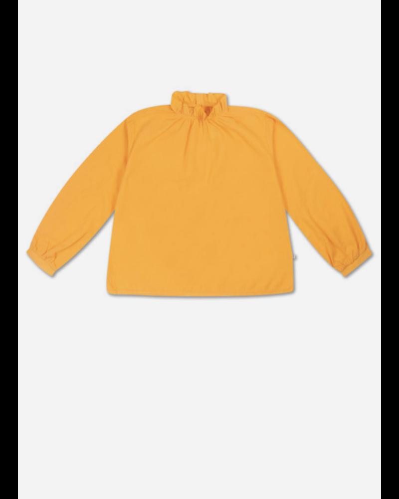 Repose ruffle blouse - warm custard yellow