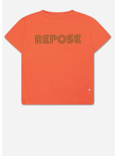 Repose tee - washed firy red