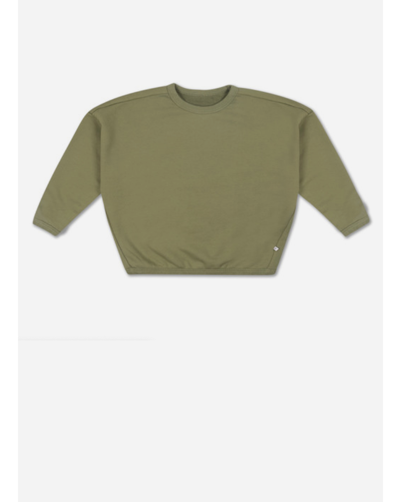 Repose boxy sweater - loden green