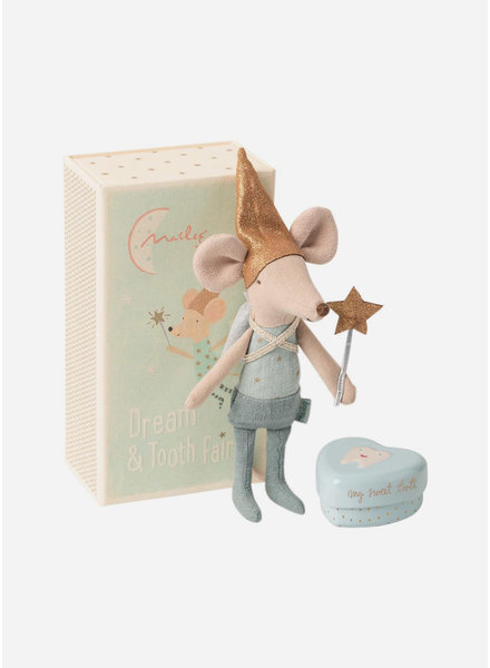 Maileg tooth fairy with metal box - big brother mouse