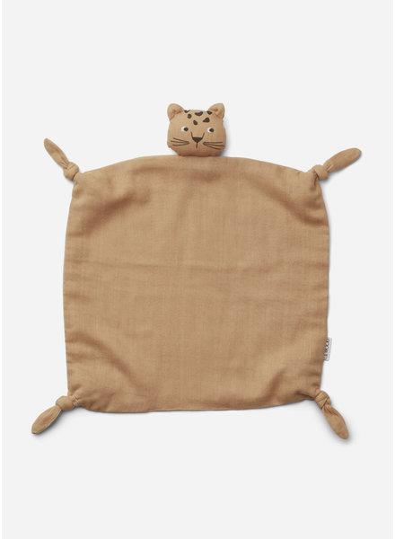 Liewood agnete cuddle cloth - leopard apricot