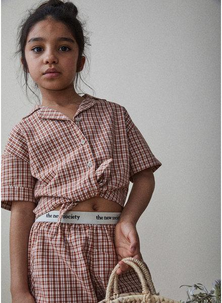 The New Society arlette shirt - caramel check