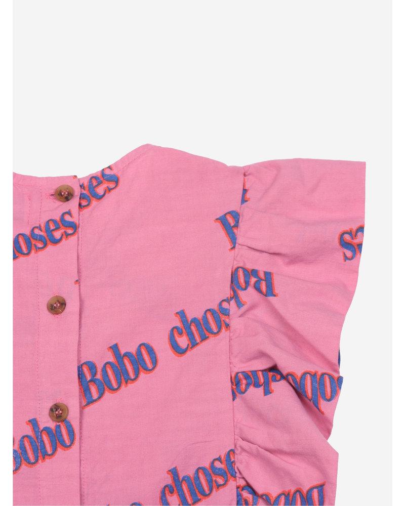 Bobo Choses bobo retro all over ruffle woven top