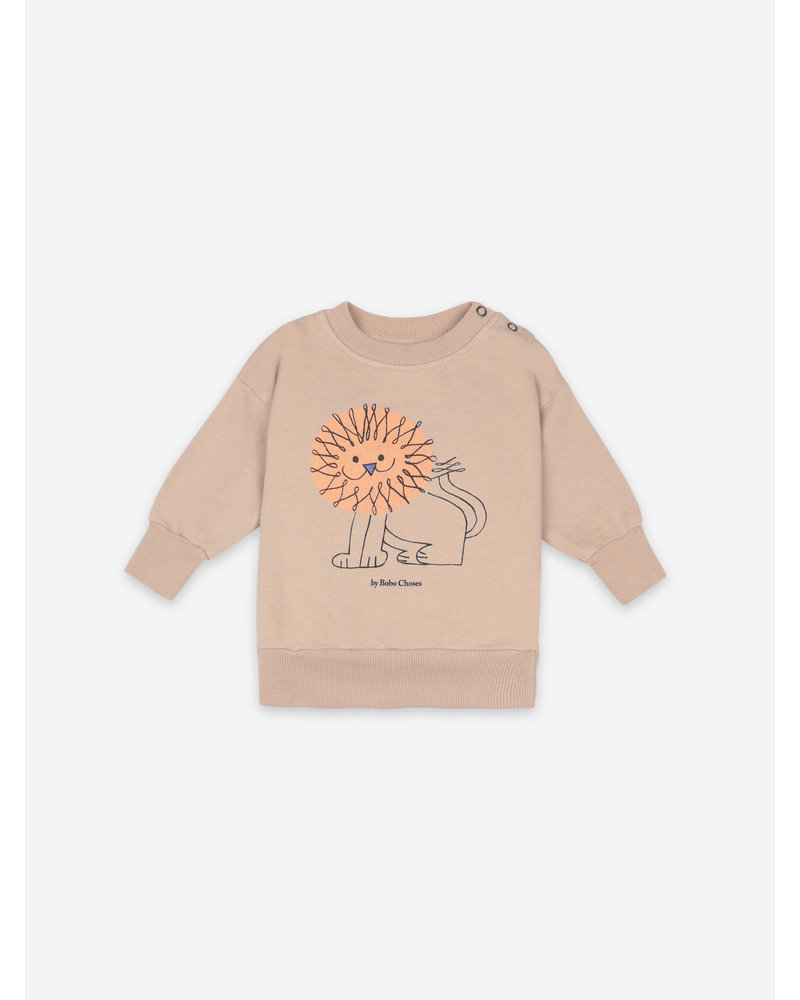 Bobo Choses pet a lion sweatshirt