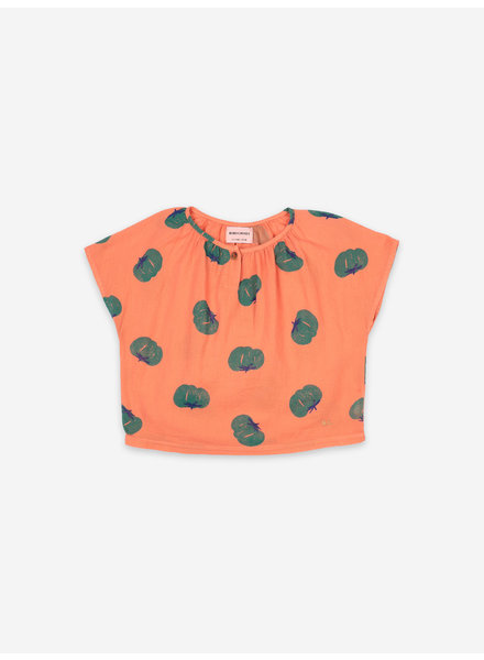 Bobo Choses tomatoes all over woven top