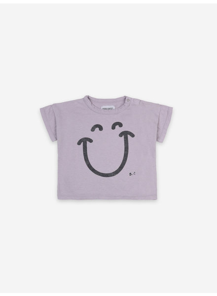 Bobo Choses big smile lila short sleeve tshirt