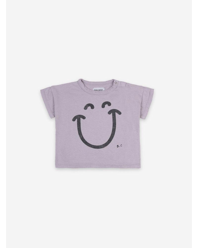 Bobo Choses big smile lila short sleeve tshirt