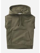 Mingo sleeveless hoodie - sage green