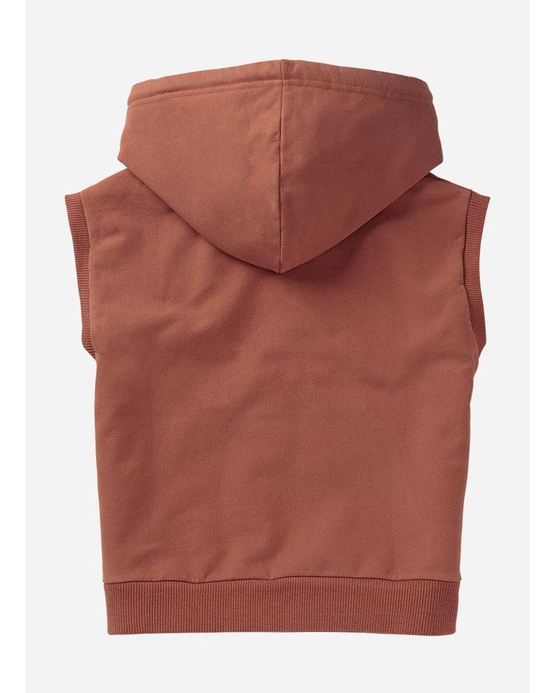 Mingo sleeveless hoodie - sienna rose
