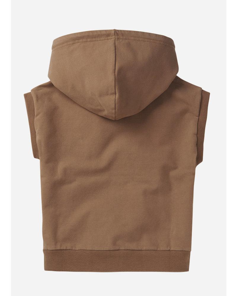 Mingo sleeveless hoodie - warm earth