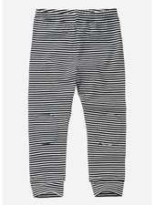 Mingo legging - stripe black white