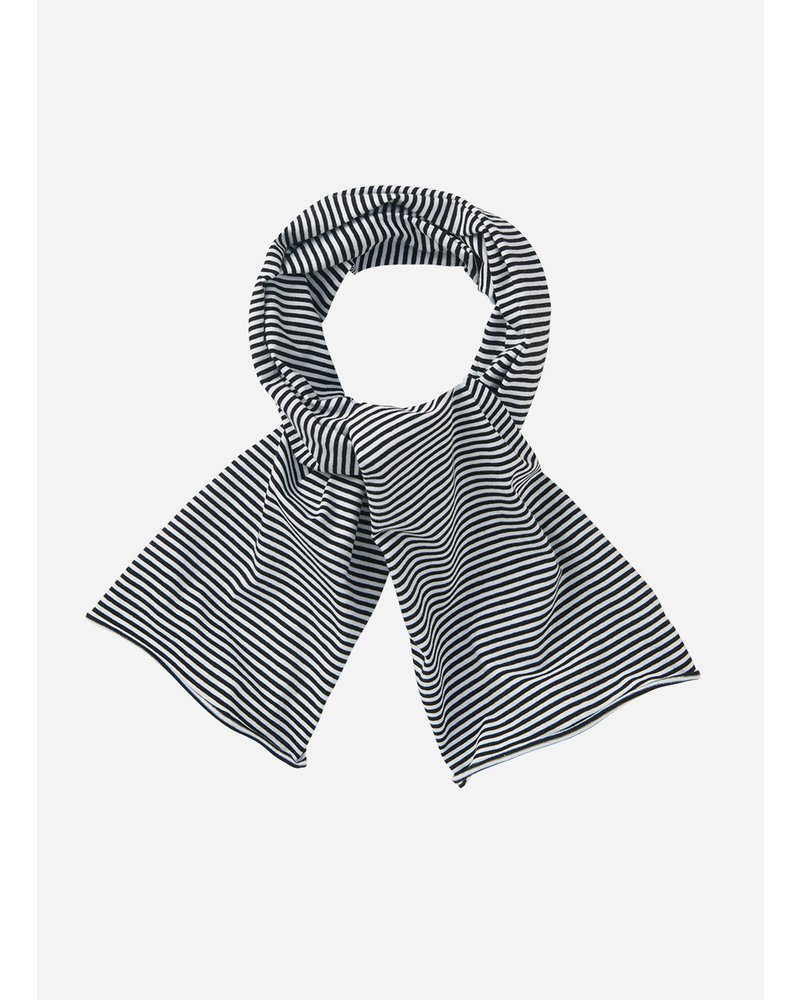 Mingo scarf basics - stripe black white