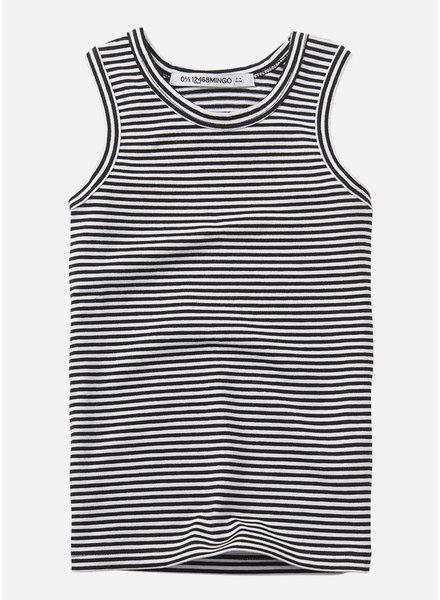 Mingo singlet basics - stripe black white