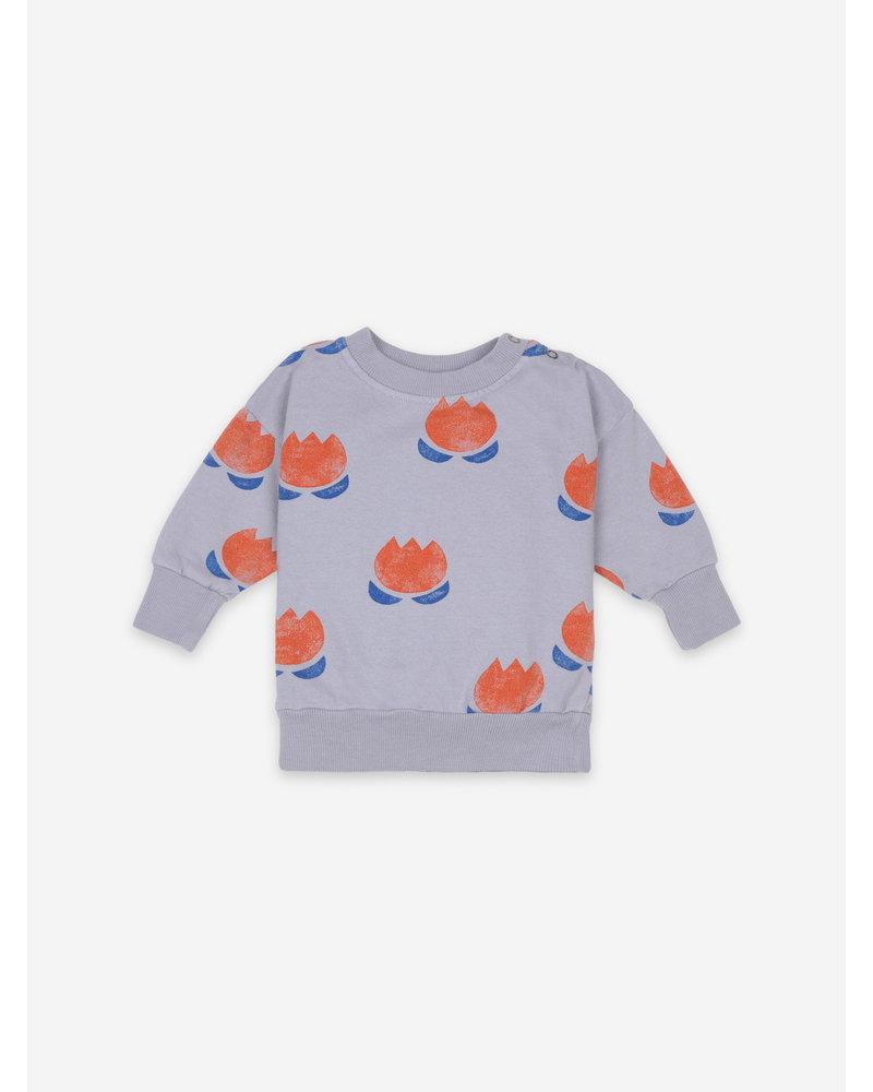 Bobo Choses chocolate flower sweatshirt