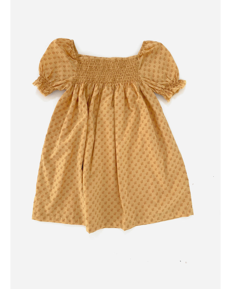 Long Live The Queen baby doll dress - yellow graphic