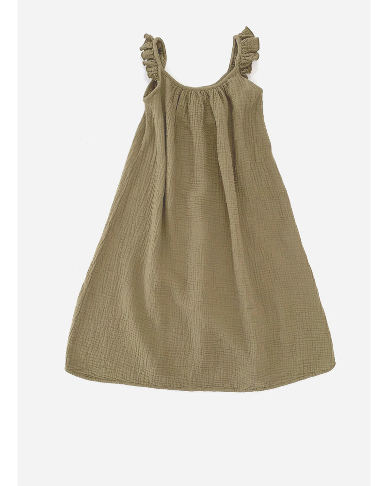 Long Live The Queen crinkle dress - army