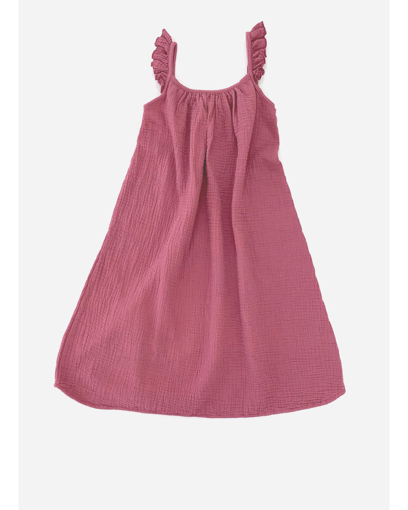 Long Live The Queen crinkle dress - wine