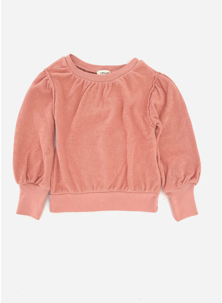 Long Live The Queen puffed sweater - rose
