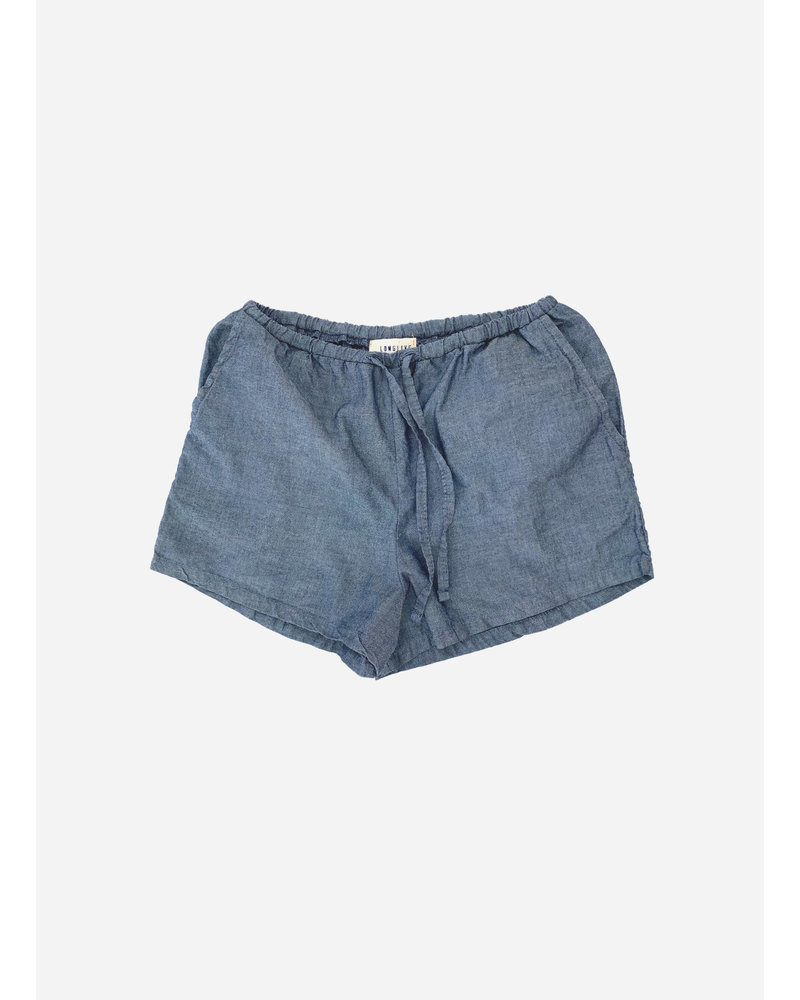 Long Live The Queen shorts - blue chambray