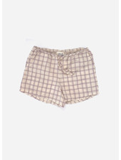 Long Live The Queen shorts - purple check