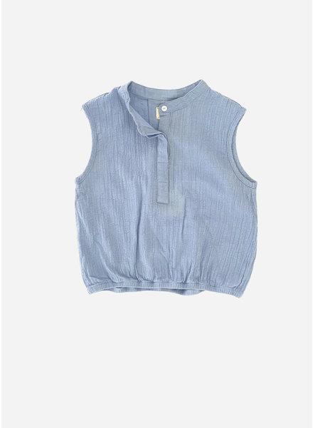 Long Live The Queen sleeveless blouse - shirt blue