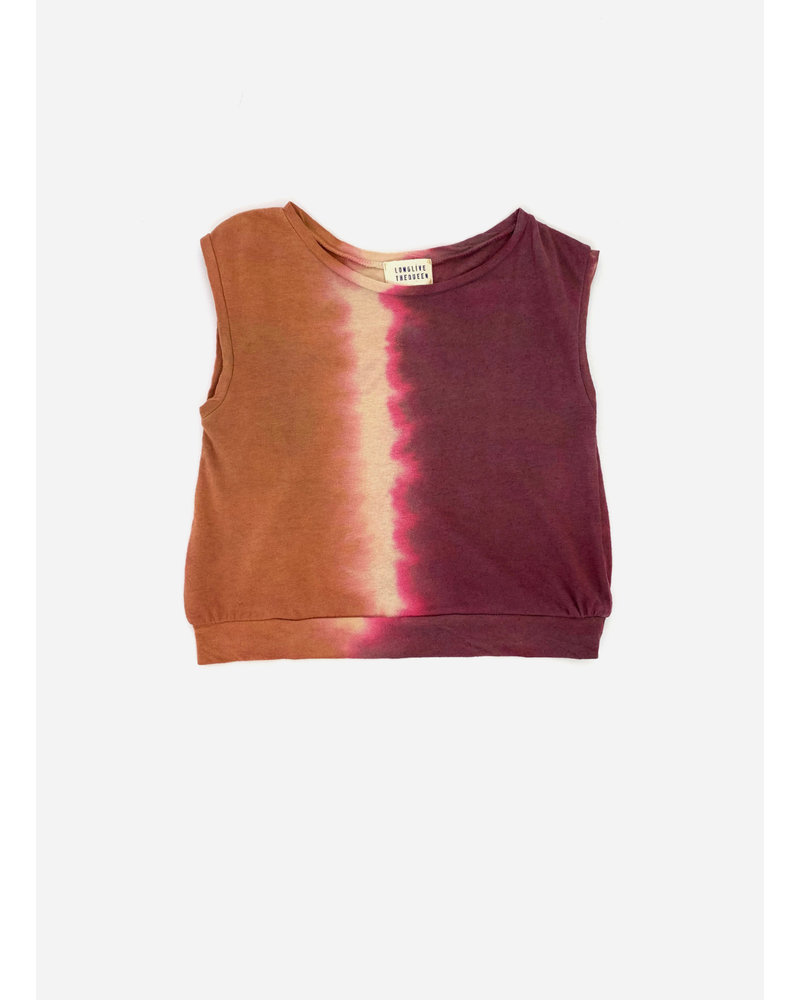 Long Live The Queen sleeveless tee - canyon tie and dye