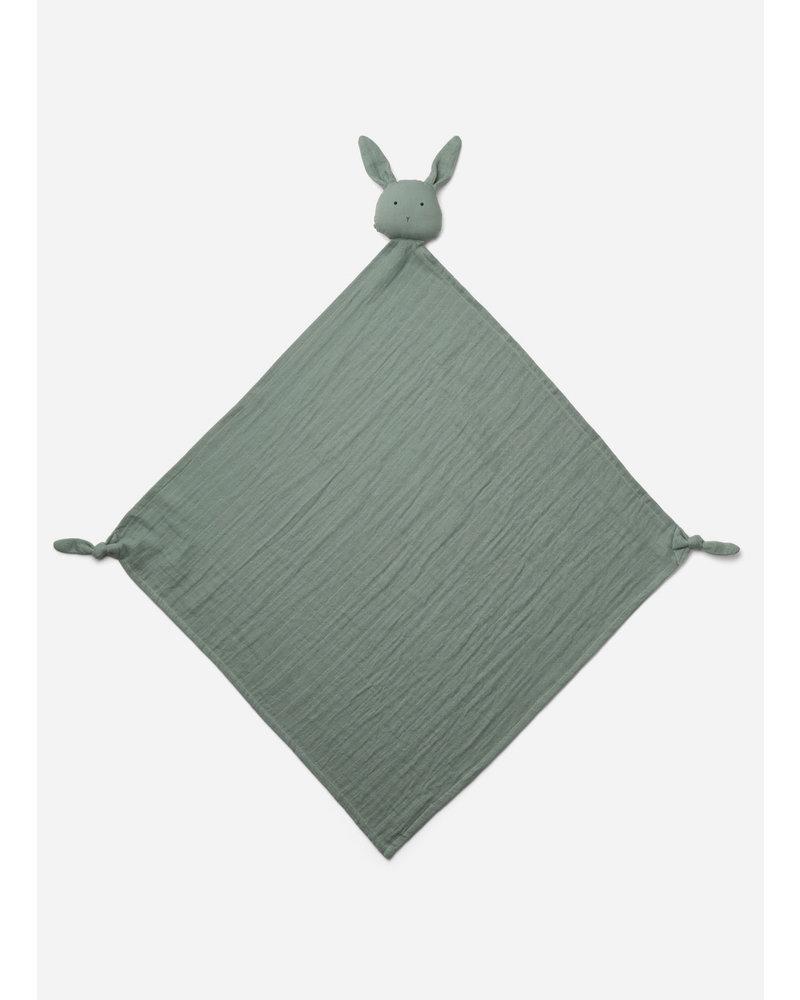 Liewood robbie multi muslin cloth - rabbit peppermint