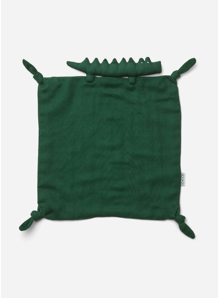 Liewood agnete cuddle cloth - crocodile garden green