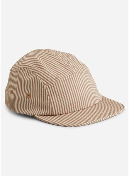Liewood rory cap - stripe tuscany rose sandy