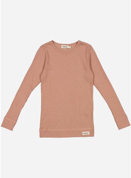 MarMar Copenhagen plain tee ls - rose brown