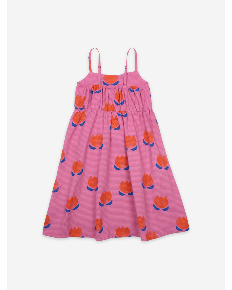 Bobo Choses chocolate flowers all over woven dress