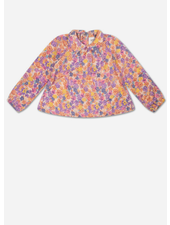Repose round collar blouse - scribble flower