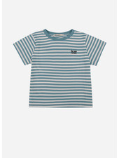 The New Society stripes tee deep blue