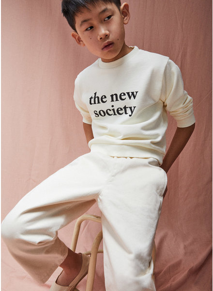 The New Society the new society basic sweater off white