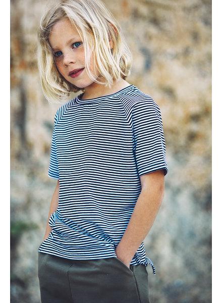 Mingo tshirt basics - stripe black white