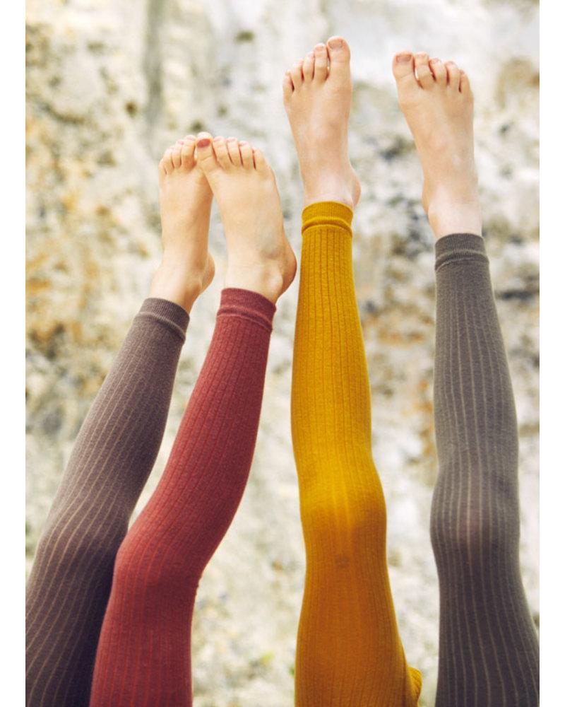 Mingo sockless tights - sage green