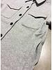 Designer Remix Girls parker shirt coat - light grey melange