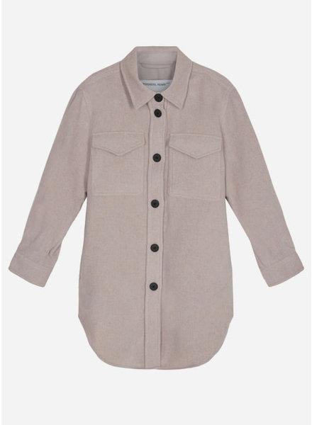 Designer Remix Girls capri shirt coat - beige