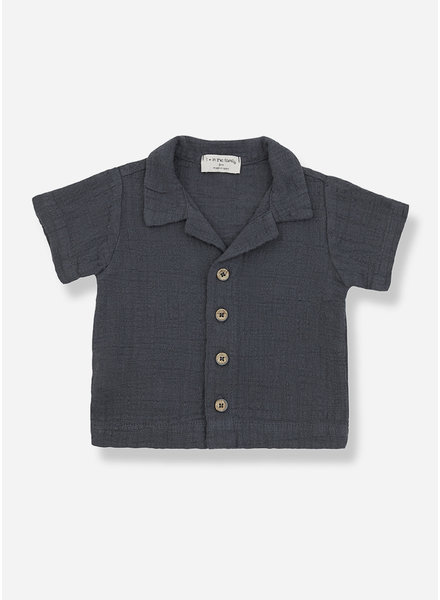 1+ In The Family david short sleeve shirt - anthracite
