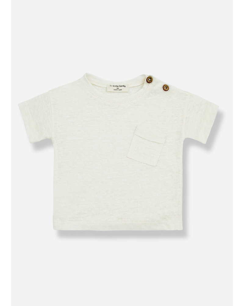 1+ In The Family gabriel short sleeve tshirt - ecru
