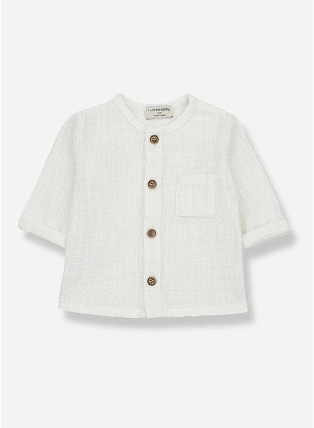 1+ In The Family mauri long sleeve shirt - off white