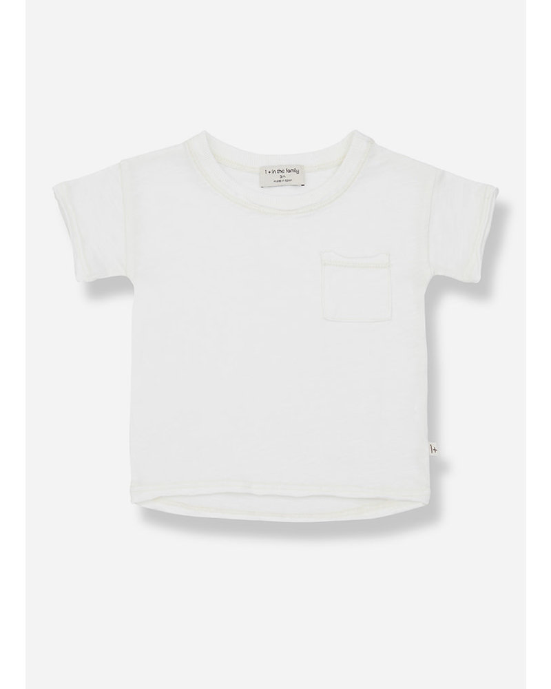 1+ In The Family nani short sleeve tshirt - off white