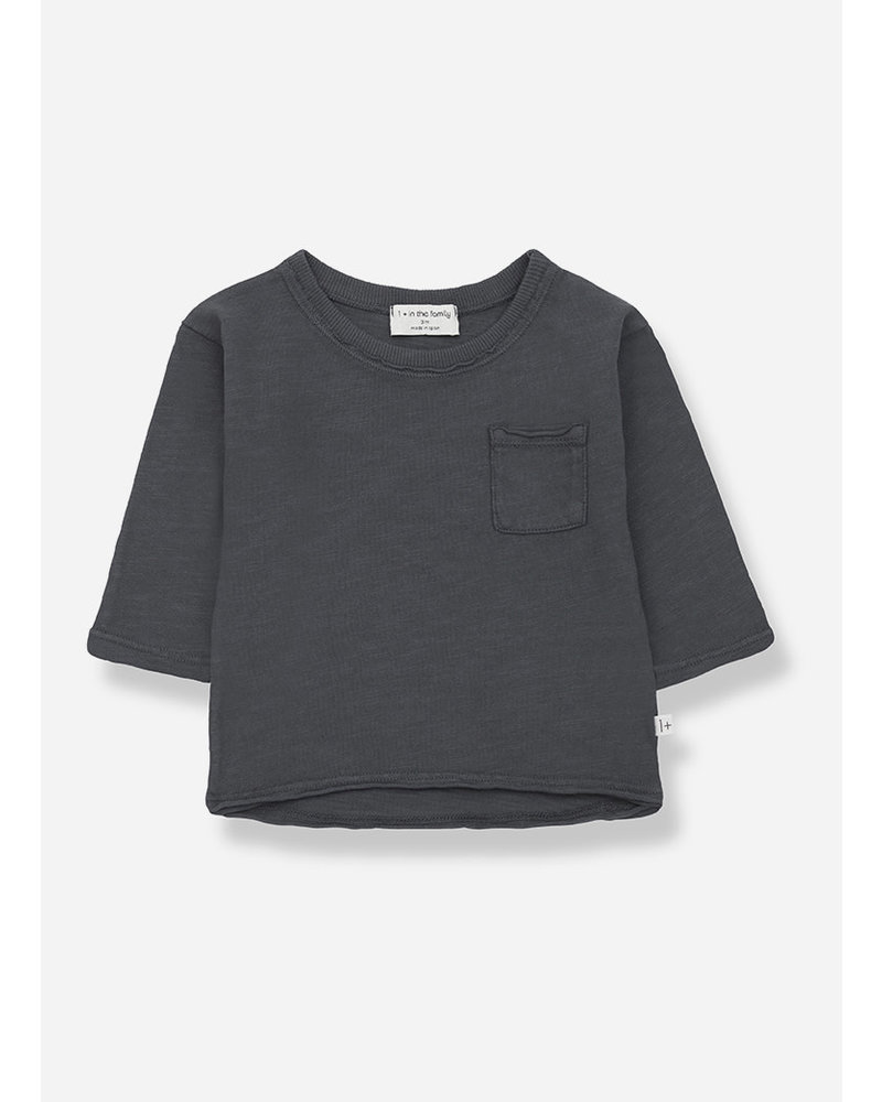 1+ In The Family pere long sleeve tshirt - anthracite