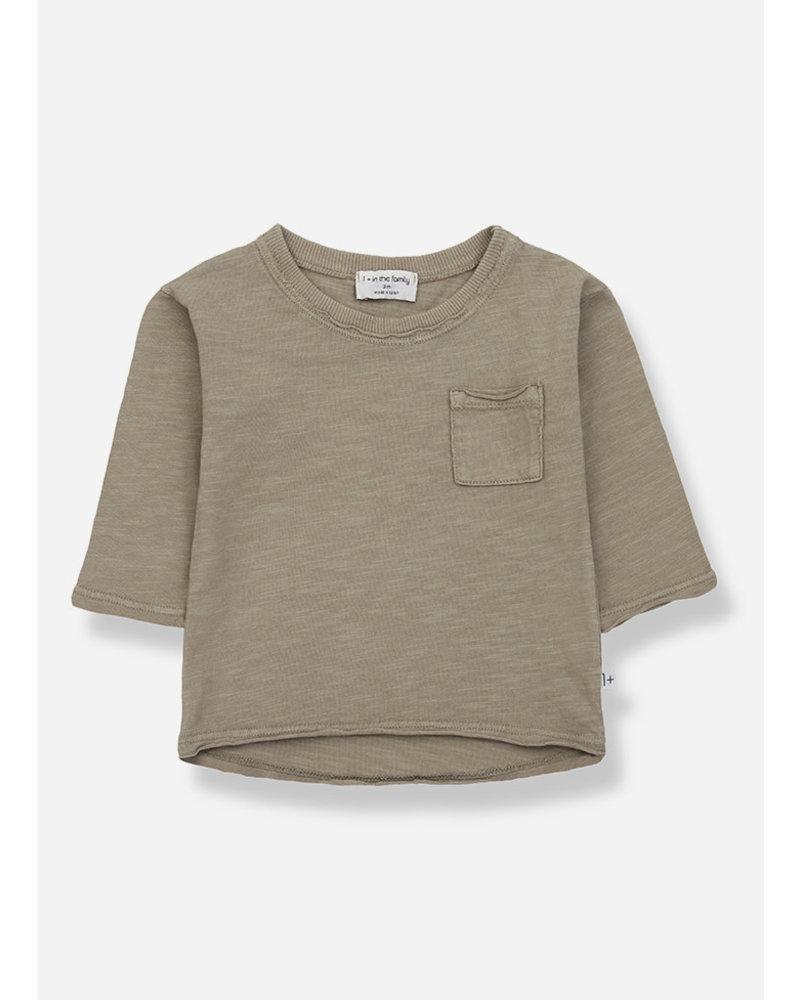 1+ In The Family pere long sleeve tshirt - khaki