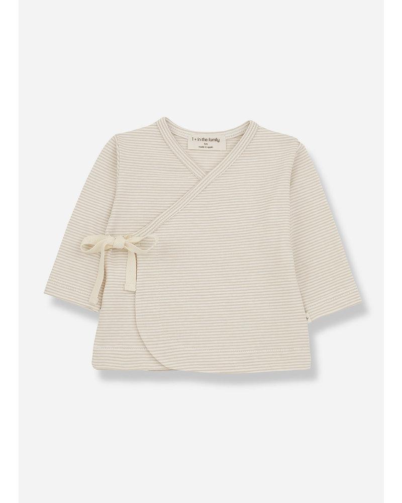 1+ In The Family sol newborn tshirt - beige