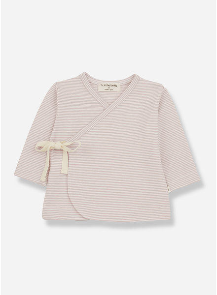 1+ In The Family sol newborn tshirt - nude
